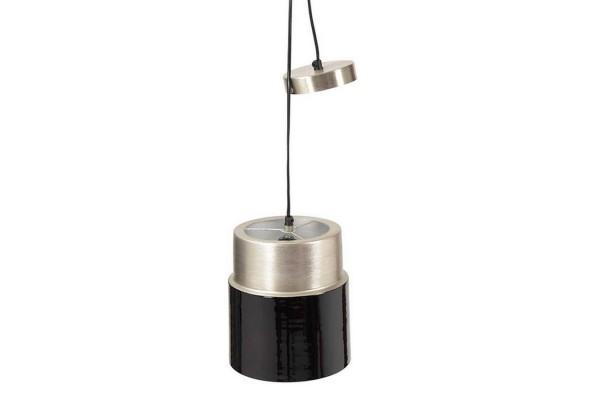 Hängelampe Tube Metall silber schwarz D 20 cm