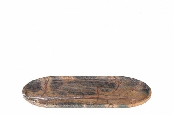Dekoschale Stein oval b 50 cm