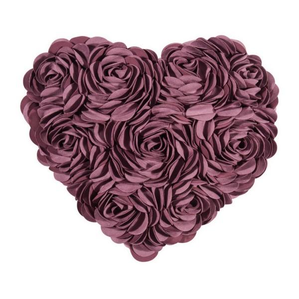 Kissenhülle Heart 34_40 cm lila