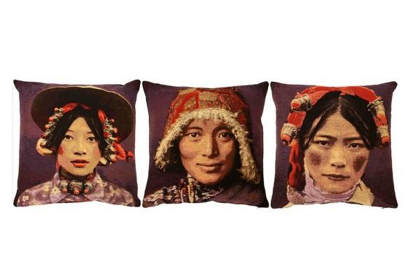 3er Set Kissen _Tibetian_