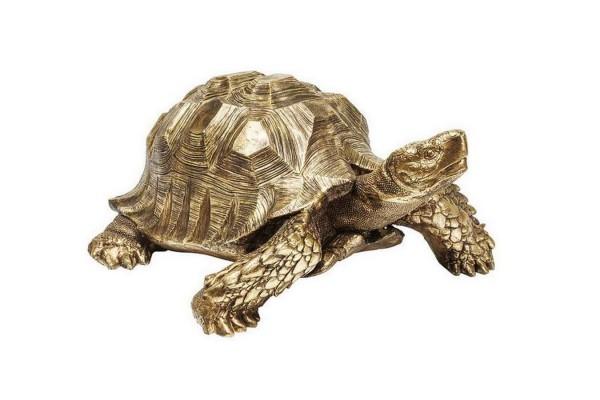 Dekofigur Turtle gold 77_95 cm