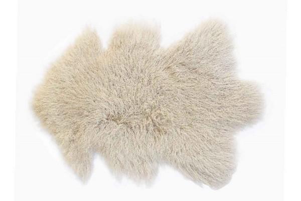Tibetanisches Lammfell beige B 80 cm