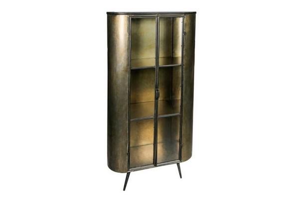 Metallvitrine _Space_ bronze antik h 161 cm