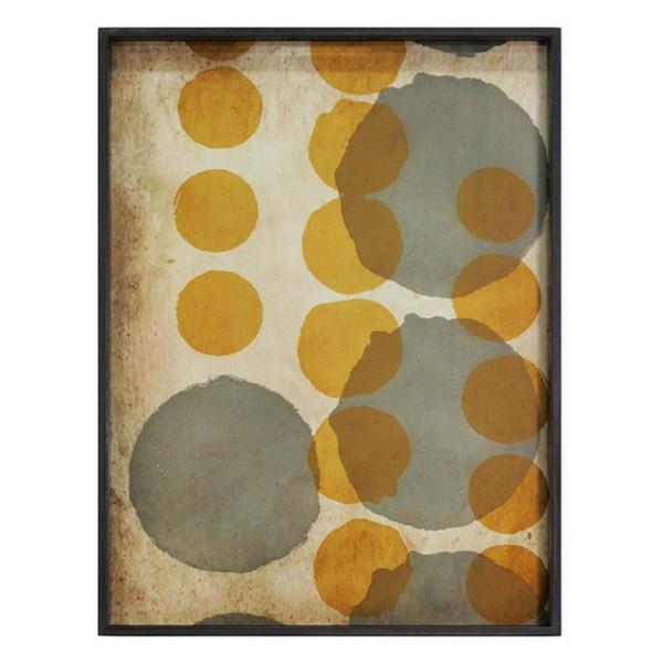 Notre Monde Tablett Sienna Layered Dots 61 cm