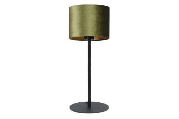 Tischleuchte samt grün H 55 cm