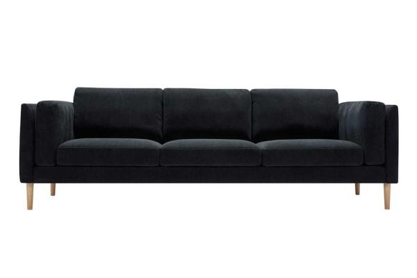 Sofa 3,5 Sitzer Sigrid Stoff dunkelgrau