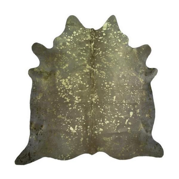 Kuhfell Metallic gold auf beige ca 3-5 qm
