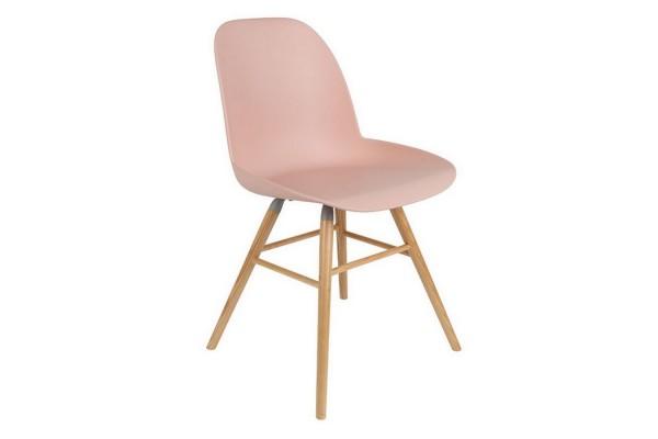 Esszimmerstuhl Albert Kunststoff rosa