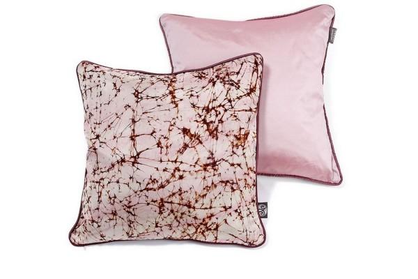 Kissenhülle batik rosa 40_40