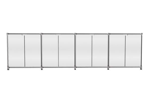 Sideboard System 180 matt MDF weiß 291_79,5_46 cm