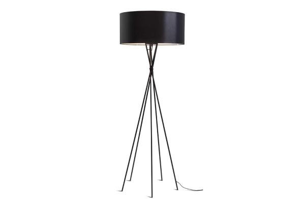 Stehlampe Lima Metall Textil schwarz schwarz H 170