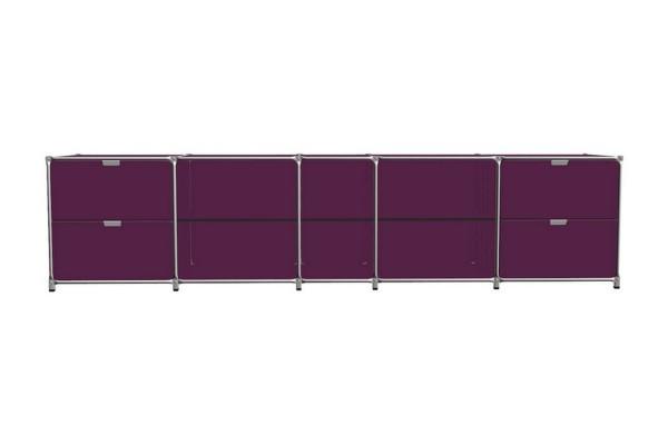 Sideboard System 180 matt nachtrot 363_79,5_72 cm