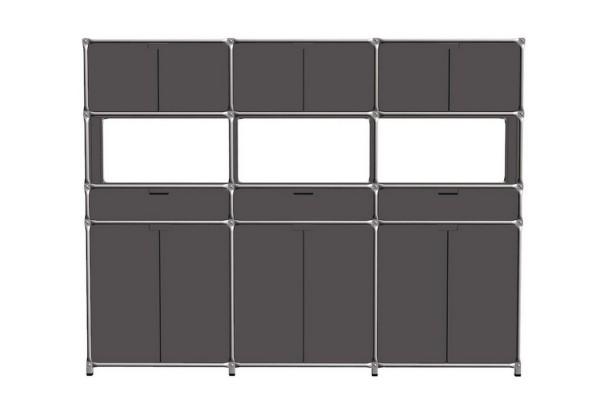 Highboard System 180 graphit MDF 291_187,5_37 cm