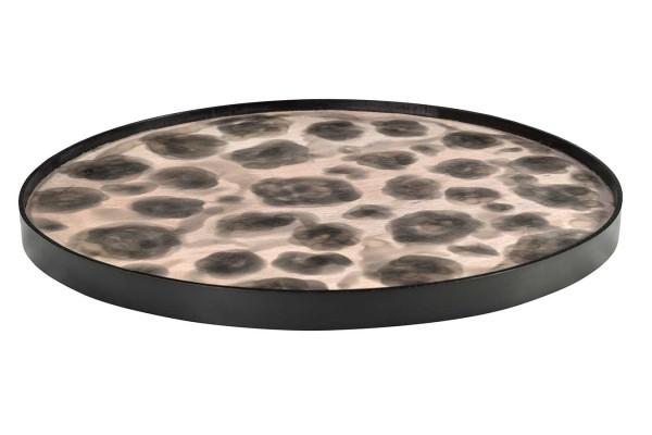 Holztablett Dots rund D 50 cm