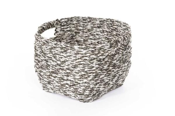 Dekokorb grau silber medium