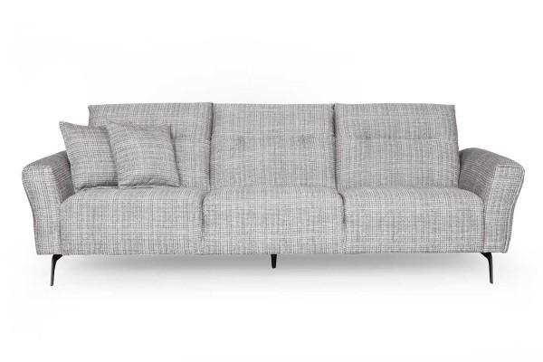 Sofa Dorset 3,5 Sitzer Stoff schwarz weiss