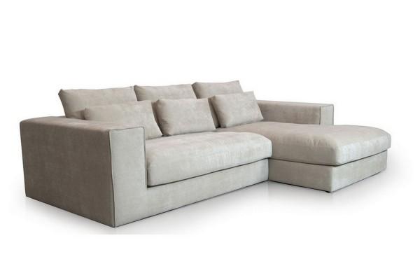 Sofakombination Brenda Stoff beige grau b 284 cm