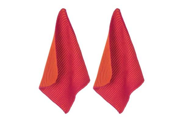 Spültuch _Twist_ 2er Set 25_25 cm orange