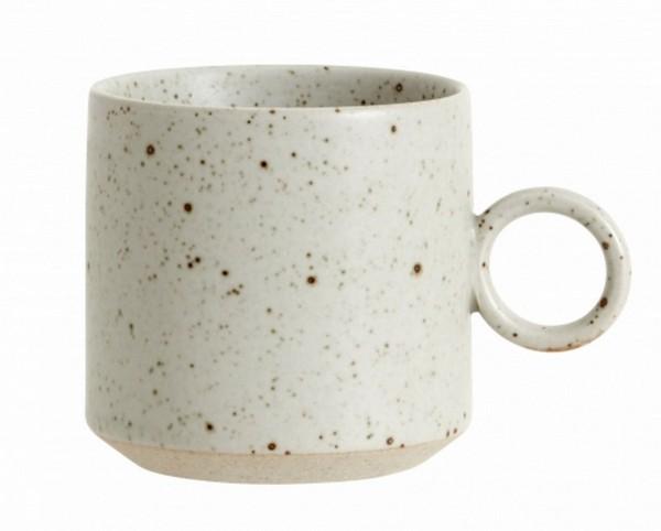 Grainy Tasse sand H 8 cm