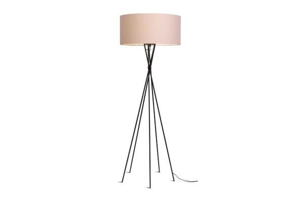 Stehlampe Lima schwarz creme H 170