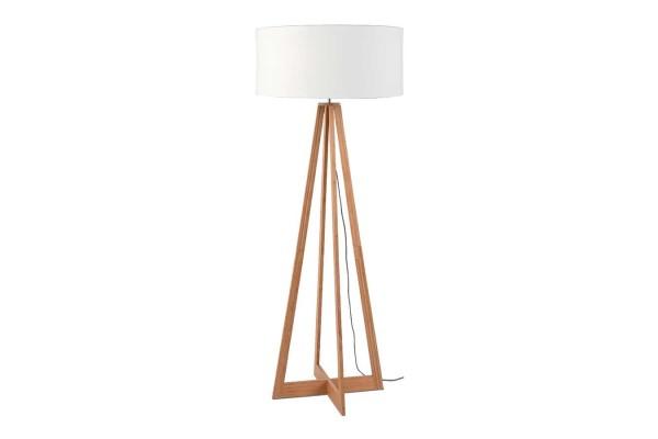Stehlampe Everest Bambus natur weiß H 158 cm