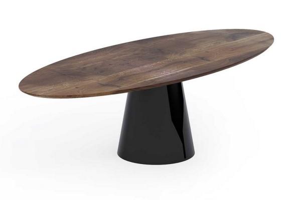 Esstisch, ovale Form, Massivholz Eiche