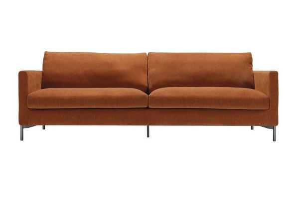 Sofa 4 Sitzer Impala Stoff Moss rostorange