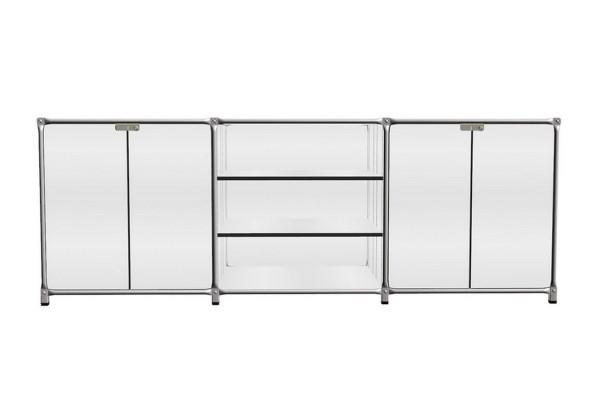 Sideboard System 180 matt MDF weiß 219_79,5_72 cm