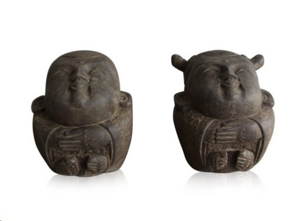 Steinfiguren China Mann_Frau 2er Set