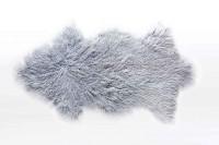 Tibetanisches Lammfell grau B 80 cm