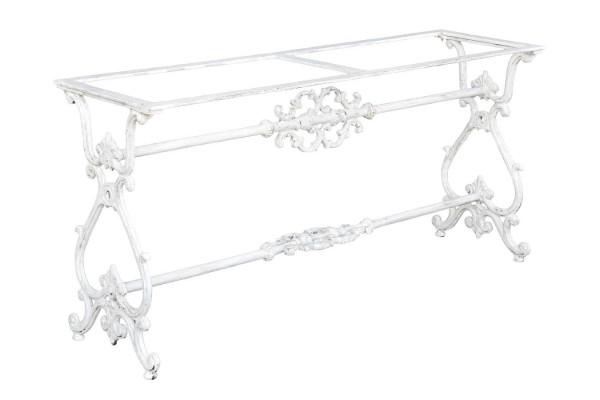 Tischgestell Metall weiß