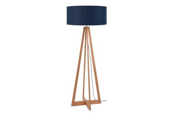 Stehlampe Everest Bambus natur blau H158