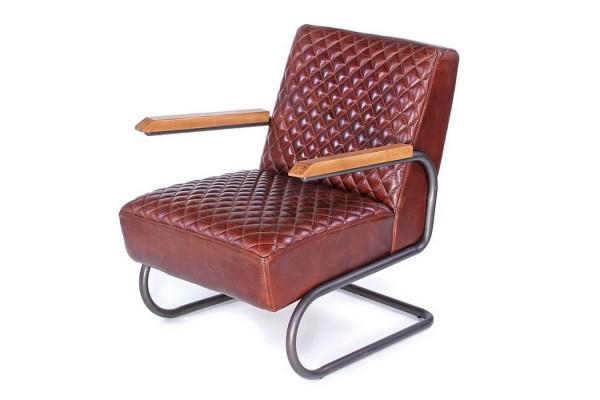 Lounge Leder Sessel Car 1940 braun