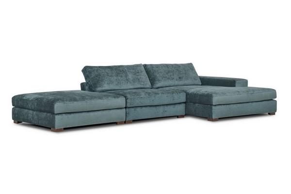 Lounge Sofakombination XXL Samt petrol