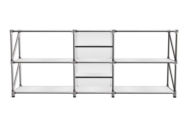 Sideboard System 180 matt weiß 192_79_5_37 cm