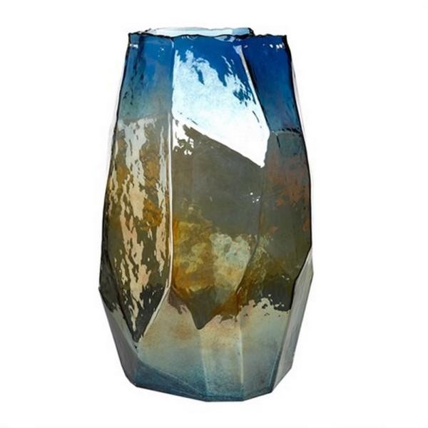 Bodenvase Graphic blau H 40 cm