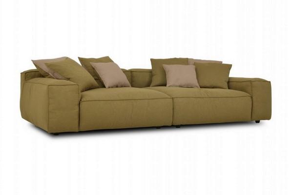Sofa 4 Sitzer Than Stoff olive b 264 cm
