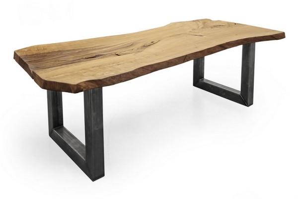 Tischplatte Eiche UNIKAT Massivholz 253 x 109 x 5,8 cm