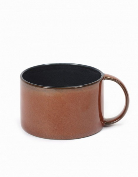 Kaffeetasse dunkelblau rot