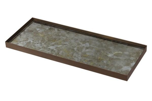 Notre Monde Tablett Fossil eckig