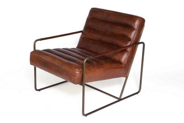Lounge Sessel Century Leder braun