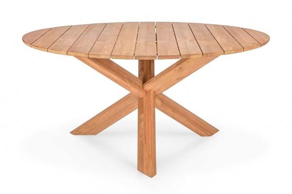 Outdoor Tisch Circle Teakholz rund groß