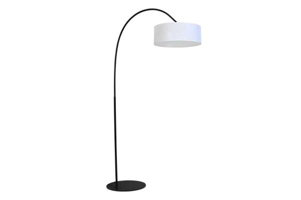 Stehlampe runder Schirm weiß L
