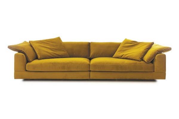 Sofa Fantasma 3 Sitzer Samt gold
