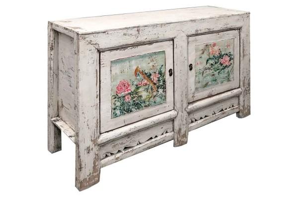 Sideboard Vintage weiß flower