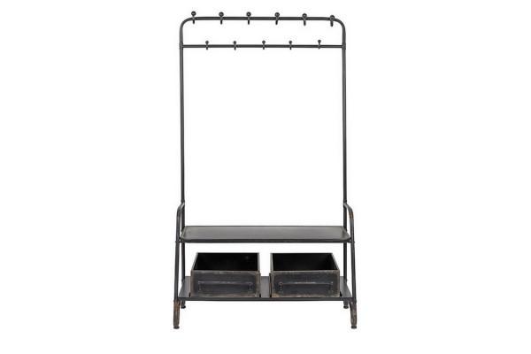 Stand Garderobe Metall schwarz h 182 cm