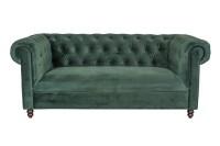 Sofa 2 Sitzer Chester Samt grün b 186 cm
