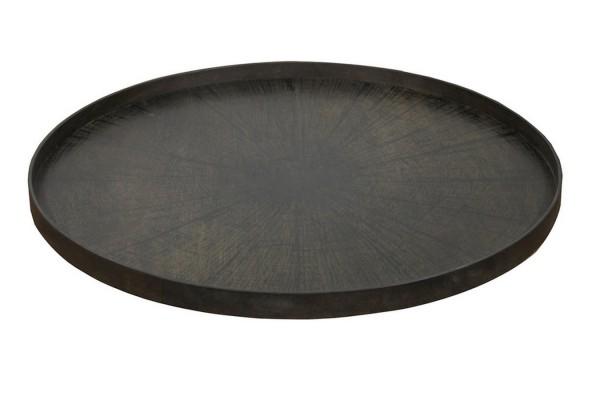 Notre Monde Tablett Black Slice rund D 92