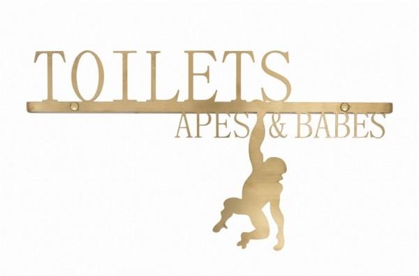 Toiletten Schild Apes Babes