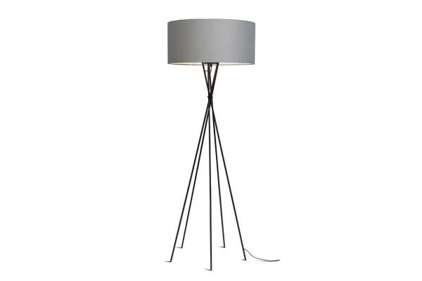 Stehlampe Lima schwarz hellgrau H 170